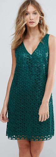 Heloise Mesh Lace Cocktail Dress