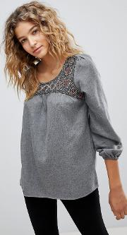 orusa embellished blouse