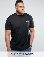plus t shirt in black with logo