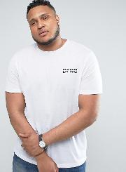 Plus T Shirt In White With Logo