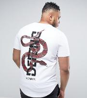 Plus T Shirt With Back Snake Embroidery