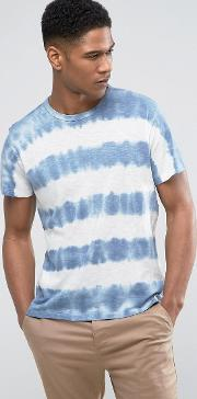 Denim & Supply Ralph Lauren T Shirt Tie Dye Stripe In Blue
