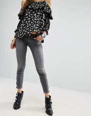Superskinny Ankle Grazer Jeans With  Zip