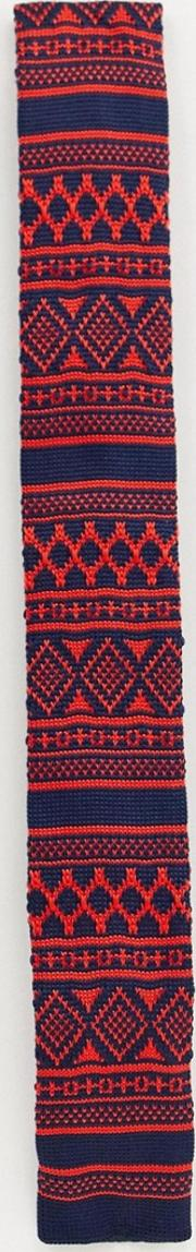 Chrsitmas Print Knitted Tie