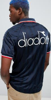 offside retro  shirt with taping  navy