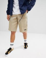 13 inch multi pocket work shorts  stone