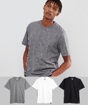 3 pack t shirts in multi colour
