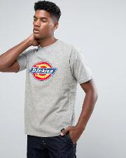 T Shirt With Large Logo In Grey