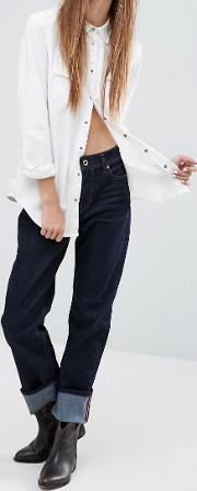 reen mid rise straight jean