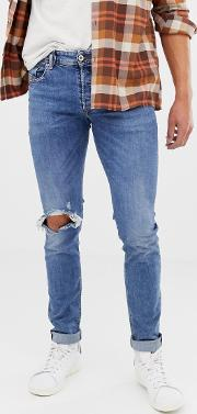 sleenker skinny jeans with abraisions 084ai