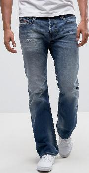 zatiny bootcut jeans 084dd mid wash abraisions