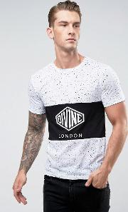 byline panelled t shirt