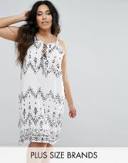 printed halter cami dress