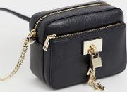 Elissa Crossbody Bag With Lock Charm Detail