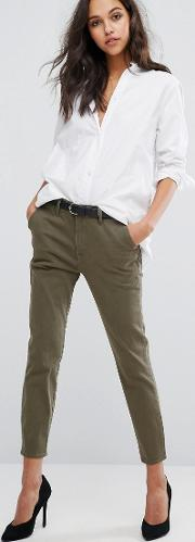 Jessica Alba X  Tapered Trouser With Flap Pocket Detail