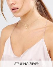 gold plated friends forever dragonfly choker