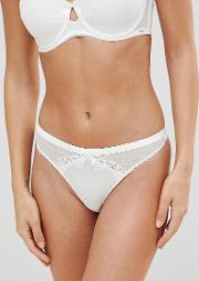 bridal ivory string thong