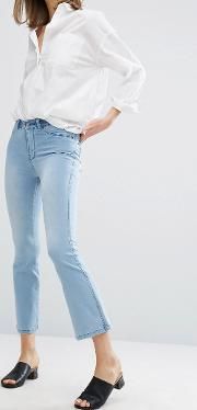 holly fitted crop flare jean