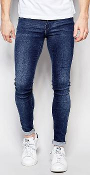 jeans kissy low spray on extreme super skinny 2nd hand light wash