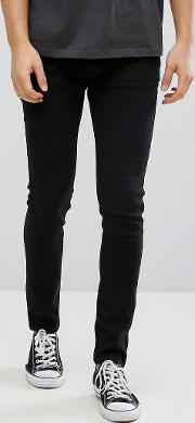 D Struct Black Stretch Skinny Jeans