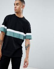 d struct cut and sew peached  shirt