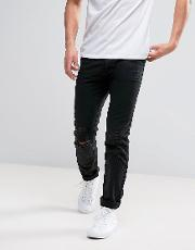 D Struct Distressed Cotton Slim Fit Chino