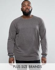 d struct plus basic crew neck knit