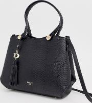 Black Dry Snake Tote Bag