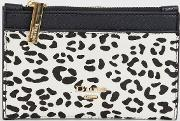 Black Snow Leopard Print Purse
