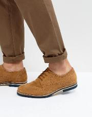 Brogues In Tan Suede