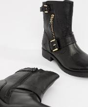 Ripp Leather Ankle Boots