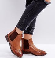 dune london wide fit quentons leather chelsea flat ankle boots