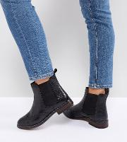 dune london wide fit quentons leather flat ankle chelsea boots