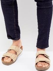 Caleb Double Strap Suede Sandals
