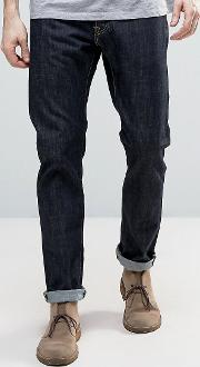 ed 55 regular tapered jeans rinsed wash