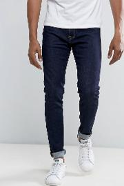 ed 85 slim tapered drop crotch jeans rinse
