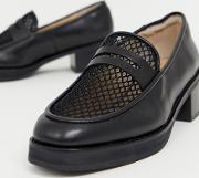 E8 By Miista Heeled Chunky Loafers With Woven Detail