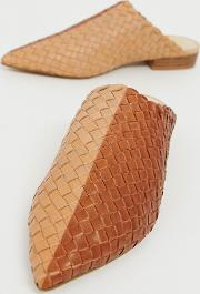 E8 By Miista Leather Woven Mules