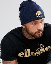 Beanie With Large Logo In Navy