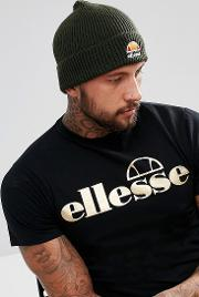Beanie With Small Logo In Khaki