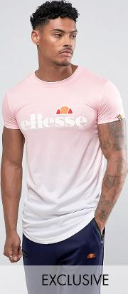 dip dye t shirt with large logo