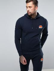 hoodie with small logo in navy