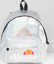 Iridescent Backpack With Logo