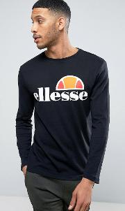 long sleeve t shirt with classic logo in black