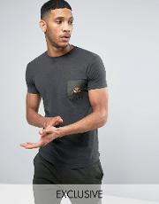 longline muscle fit  shirt with pocket