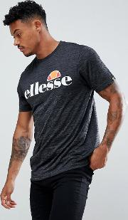 Poly T Shirt With Large Logo In Black