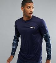 Sport Long Sleeve  Shirt With Layered