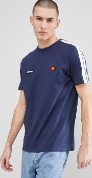 t shirt with sleeve taping  navy