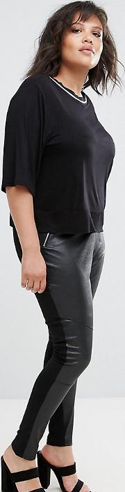 Pu Fronted Jeggings