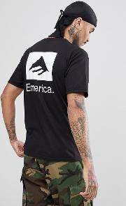t shirt with back print  black
